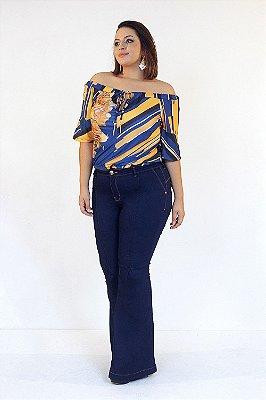 Calça Jeans Super Flare com Nesga   171036