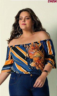 Blusa Ciganinha com Estampa Localizada  31418