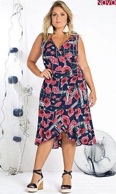 Vestido com Estampa Floral    20856
