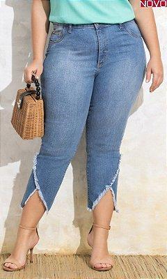 Calça Jeans com Transpasse na Barra     20020