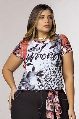 T-Shirt com Detalhe em Meia Argola nas Costas  31622
