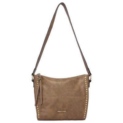 Crossbody Grande com Costura e Metais Laterais  - 44904