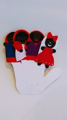 Brincar: Dedoches Família Negra