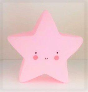 Mini Luminária de Led - Estrela Rosa