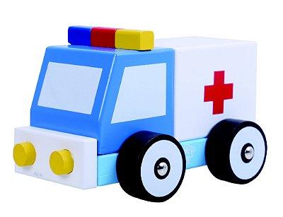 Carro Ambulancia Desmontável de Madeira