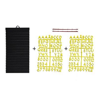 Kit - Quadrinho com 02 cartelas de letras AMARELAS