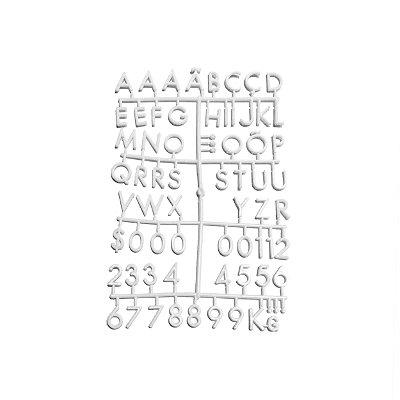 Cartela Extra de Letras - Cor Branca