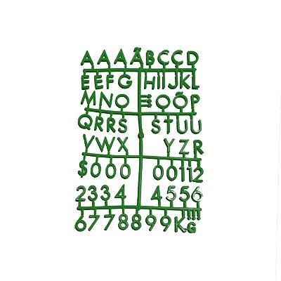 Cartela Extra de Letras - Cor Verde