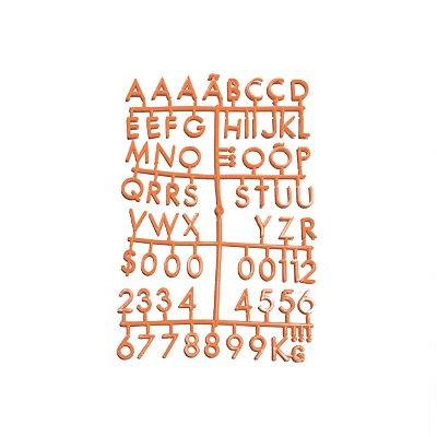 Cartela Extra de Letras - Cor Laranja