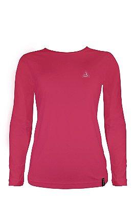 Camisa Manga longa Dry Pro Feminina Rosa - Makalu Sports