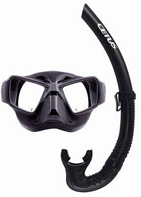 Máscara de Mergulho Silicone Tuna Preta - Cetus