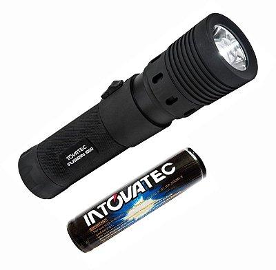 Lanterna de Mergulho Fusion 1000 Lumens Recarregavel - Tovatec