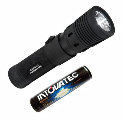 Lanterna de Mergulho Fusion 260 Lumens Recarregavel - Tovatec