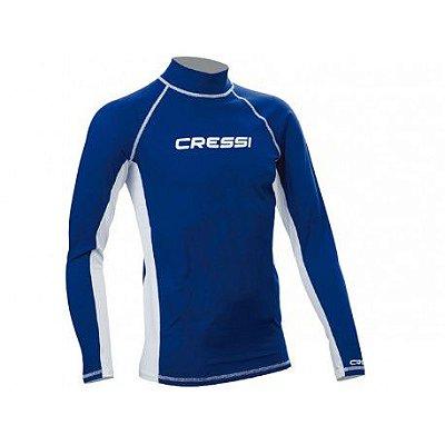 Camiseta Lycra Azul UV50 - Cressi
