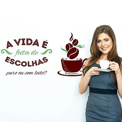 Adesivo de Parede Cozinha Café Escolhas