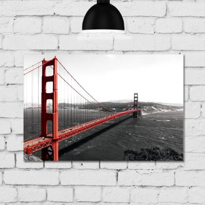 Placa Decorativa MDF Foto Golden Gate
