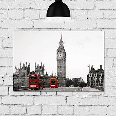Placa Decorativa MDF Foto Londres Big Ben