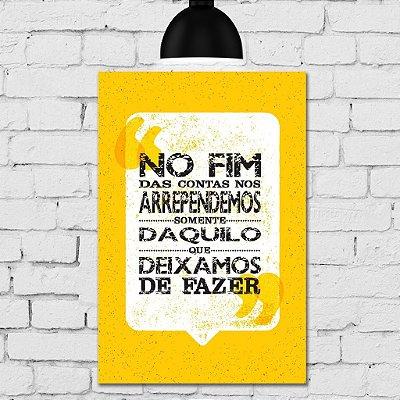 Placa Decorativa MDF Vintage No Fim das Contas