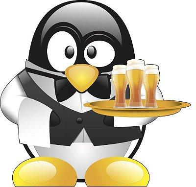 Adesivo de Geladeira Pinguim Cerveja Gigante 52x52 cm