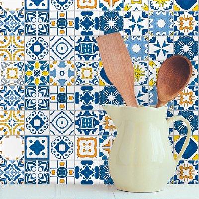 Adesivo de Azulejo Renascença 10x10 cm com 100 un