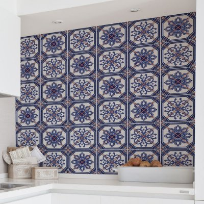 Adesivo de Azulejo Lisboa 15x15 cm com 36 un