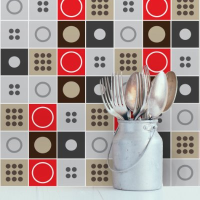 Adesivo de Azulejo Moderno 15x15 cm com 36 un