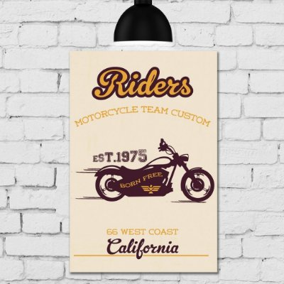 Placa Decorativa MDF Vintage Moto Riders