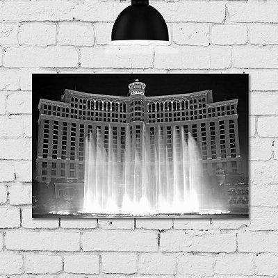 Placa Decorativa MDF Foto Bellagio Las Vegas