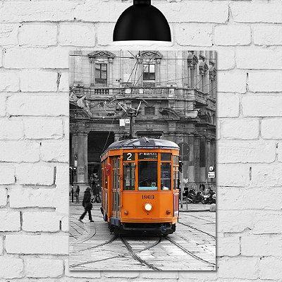 Placa Decorativa MDF Foto Bonde Itália