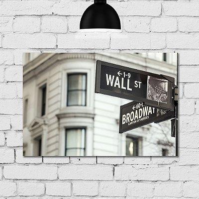 Placa Decorativa MDF Foto Nova Iorque