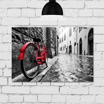 Placa Decorativa MDF Foto Bicicleta Itália
