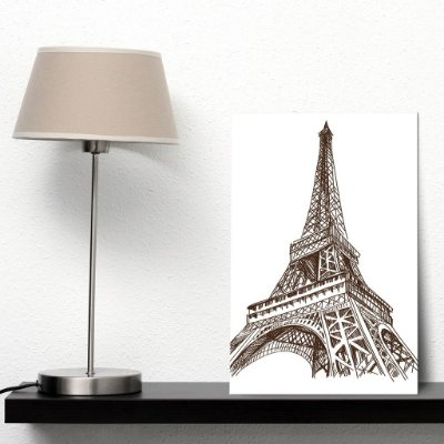 Placa Decorativa MDF Torre Eiffel Paris