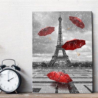 Placa Decorativa MDF Foto Torre Eiffel Paris