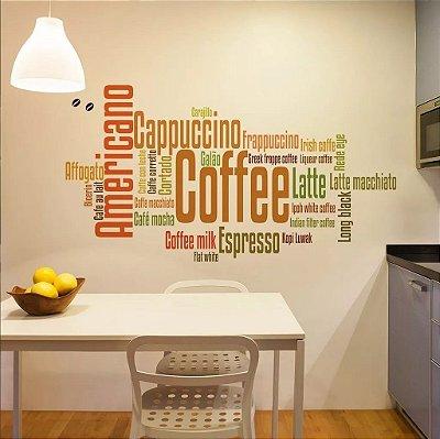 Adesivo de Parede Tipos de Café