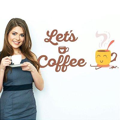 Adesivo de Parede Let's Coffee