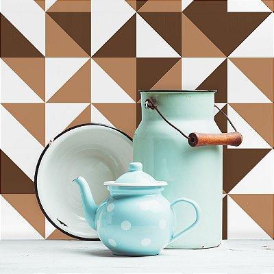 Adesivo de Azulejo Marrom Brooklyn 15x15 cm com 36 un