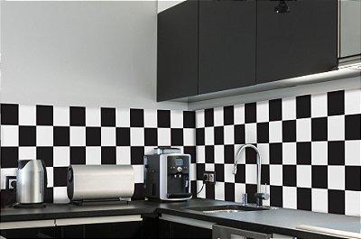Adesivo de Azulejo Xadrez 10x10 cm com 100 un