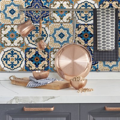 Adesivo de Azulejo Braga 15x15 cm com 36 un
