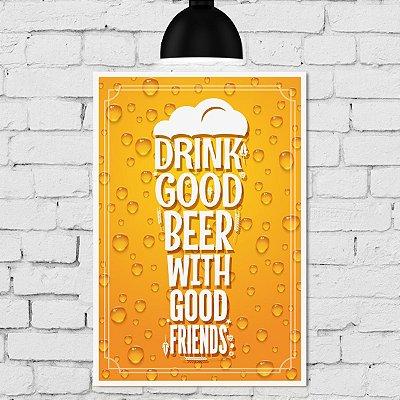 Placa Decorativa MDF Cerveja com Amigos