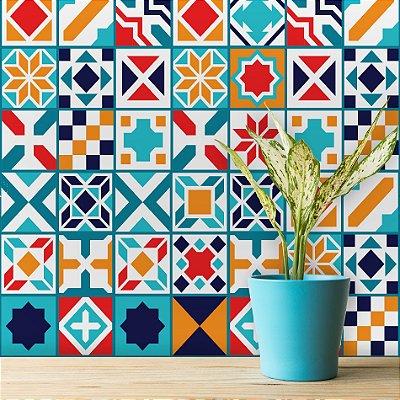 Adesivo de Azulejo Madri 10x10 cm com 100 un