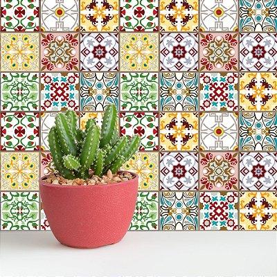 Adesivo de Azulejo Valência 10x10 cm com 100 un