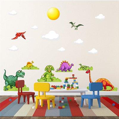 Adesivo de Parede Infantil Dinossauros