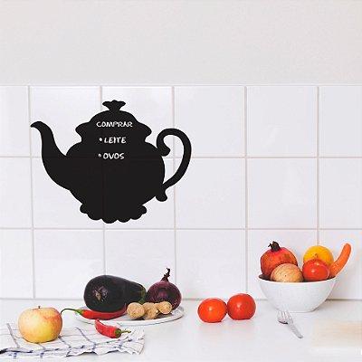 Adesivo de Parede Lousa Para Cozinha Bule