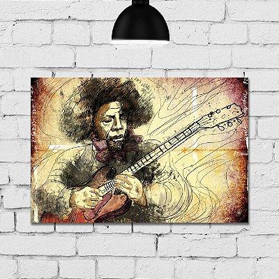 Placa Decorativa MDF Musico
