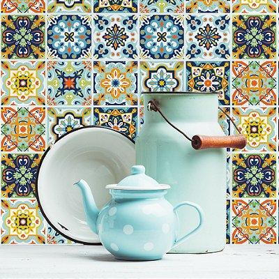 Adesivo de Azulejo Porto 10x10 cm com 100 un