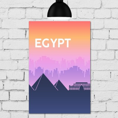 Placa Decorativa MDF Egito