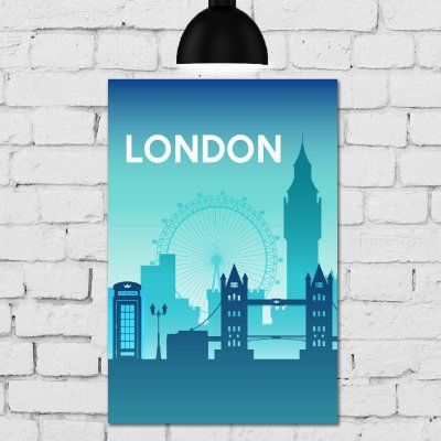 Placa Decorativa MDF Londres