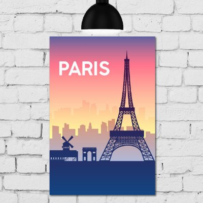 Placa Decorativa MDF Paris