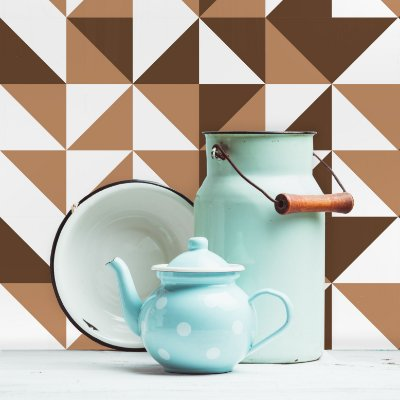 Adesivo de Azulejo Marrom Brooklyn 20x20 cm com 24 un