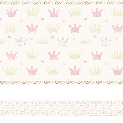 Adesivo de Parede Faixa Decorativa Infantil Coroa 10m x 10cm